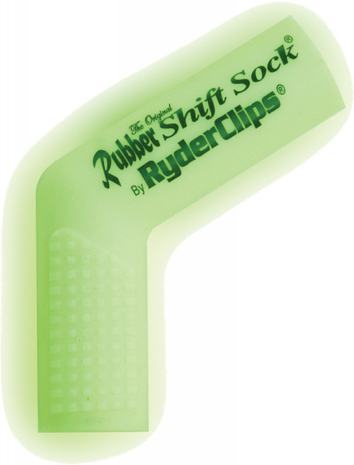 RYDER CLIPS RUBBER SHIFT SOCK (GLO-WHITE) (RSS-GLOWHITE)