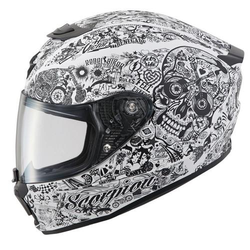 Scorpion Exo-R420 Full-Face Shake Helmet White