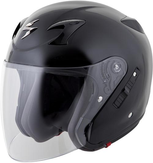Scorpion Exo-Ct220 Open-Face Solid Helmet Black