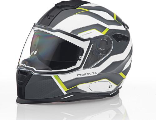 Nexx SX100 IFLUX Hi-Viz Helmet