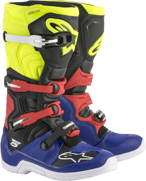 Alpinestars Tech 5 Boots Blue Black Yellow