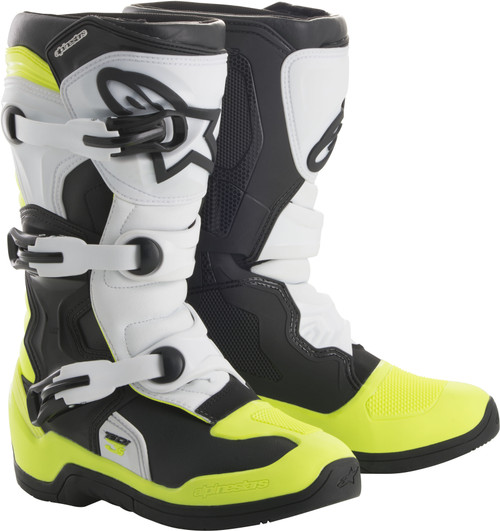 Alpinestars Tech 3S Youth Boots Black White Yellow
