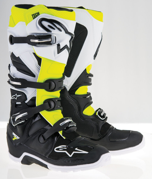 Alpinestars Tech 7 Enduro Boots Black White Yellow