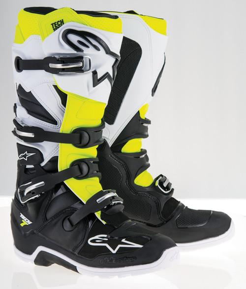 Alpinestars Tech 7 Enduro Boots Black White Yellow