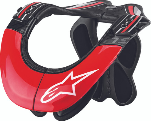 Alpinestars BNS Tech Carbon Neck Support Anthracite Red White