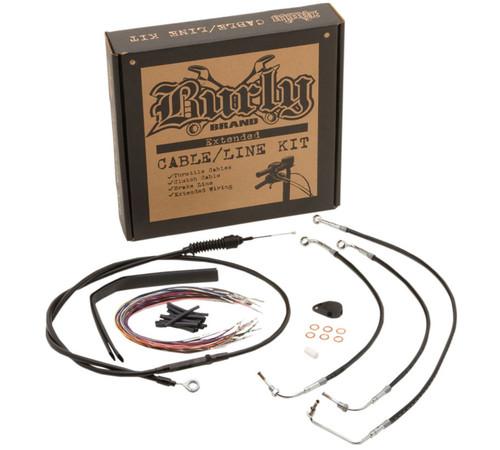 "Burly Control Cable Kit Black 13"" Bars (B30-1113)"