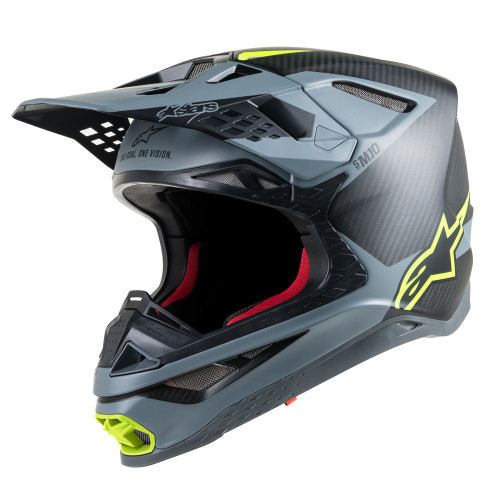 Alpinestars Supertech M10 Grey Yellow Helmet