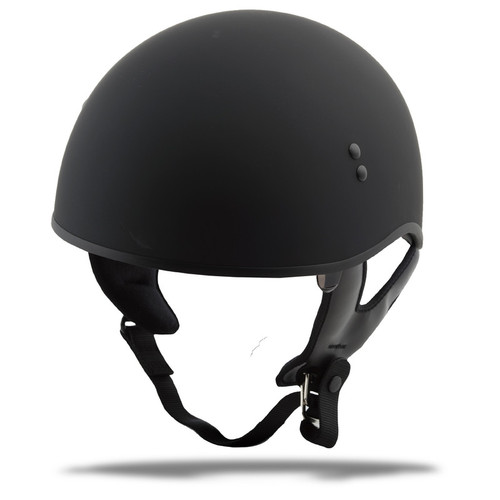 Gmax GM-65 Naked Solid Half Helmet Matte Black