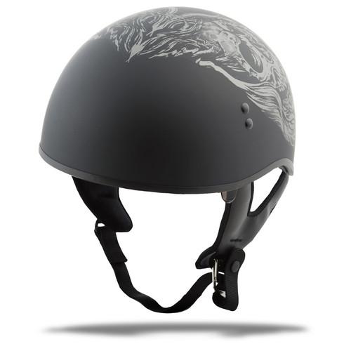 Gmax GM-65 Naked Ghost Half Helmet Matte Silver