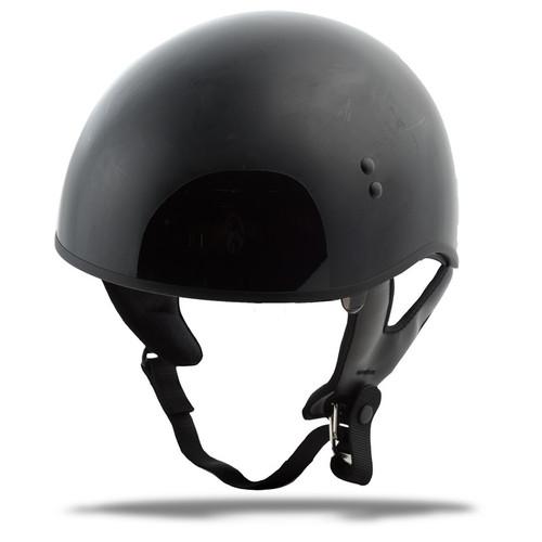 Gmax GM-65 Naked Solid Half Helmet Black