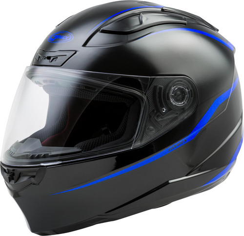 Gmax FF-88 Full Face Precept Helmet Blue