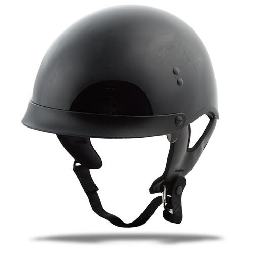 Gmax GM-65 Full Dress Solid Half Helmet Black