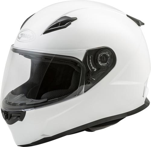 Gmax FF-49 Full Face Solid Helmet White