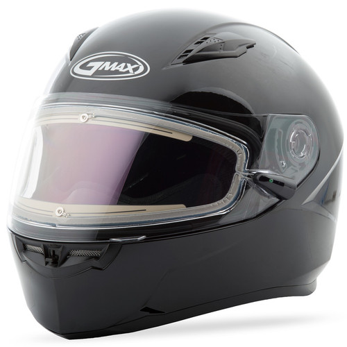 Gmax FF-49 Snow Solid Full Face Helmet Heated Shield White