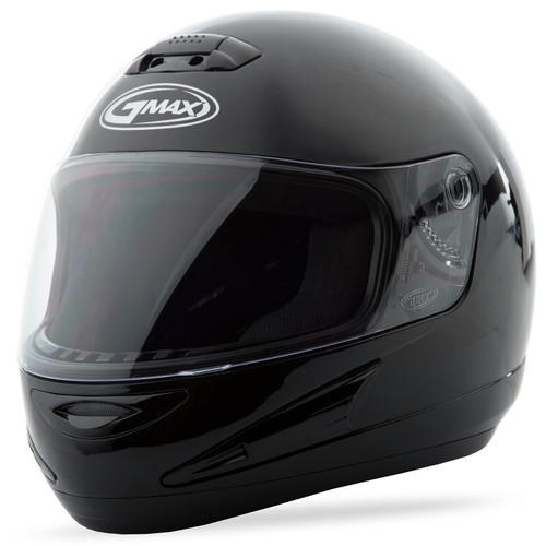 Gmax GM-38 Full Face Solid Helmet Black