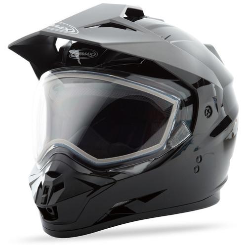 Gmax GM-11 Snow Solid Adventure Helmet Black