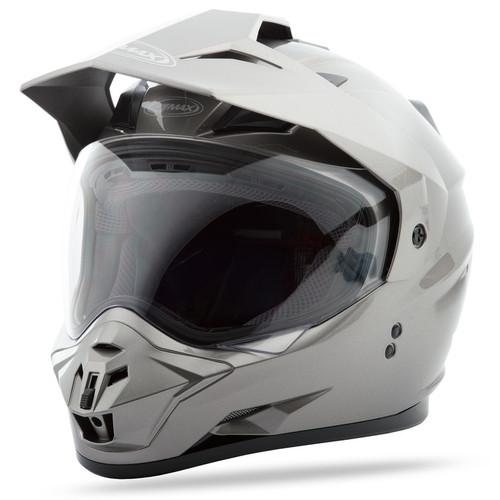 Gmax GM-11 Dual Sport Solid Helmet Titanium