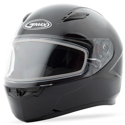 Gmax FF-49 Snow Solid Full Face Helmet Black