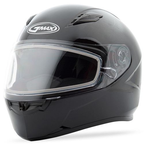 Gmax FF-49 Snow Solid Full Face Helmet Black