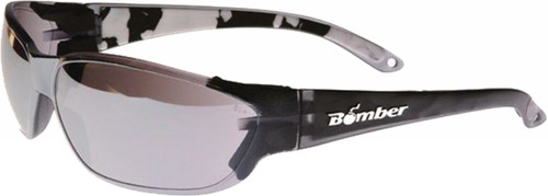 Bomber H-Bomb Safety Sunglasses Smoke W/Mirror Lens - HF105