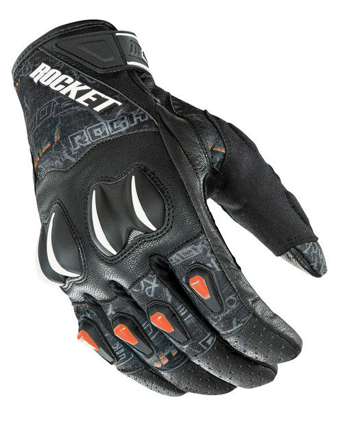 Joe Rocket Cyntek Street Style Gloves Street Style Hi-Viz Orange Mens