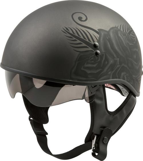 Gmax GM-65 Devotion Half Helmet Matte Black