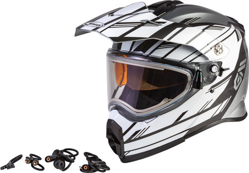 Gmax AT-21S Adventure Epic Snow Helmet w/Electric Shield Silver