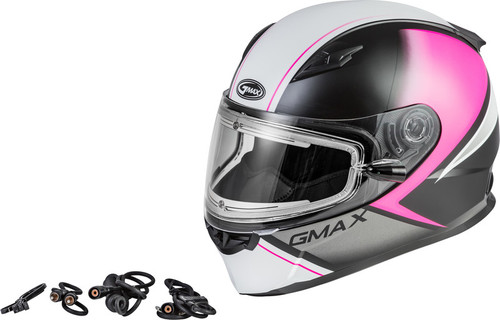 Gmax FF-49S Hail Snow Helmet w/Electric Shield Matte Pink
