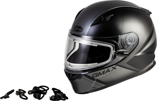 Gmax FF-49S Hail Snow Helmet w/Electric Shield Matte Black