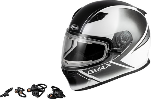 Gmax FF-49S Hail Snow Helmet w/Electric Shield White