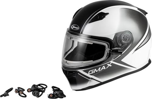 Gmax FF-49S Hail Snow Helmet w/Electric Shield White