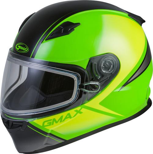 Gmax FF-49S Full-Face Hail Snow Helmet Green