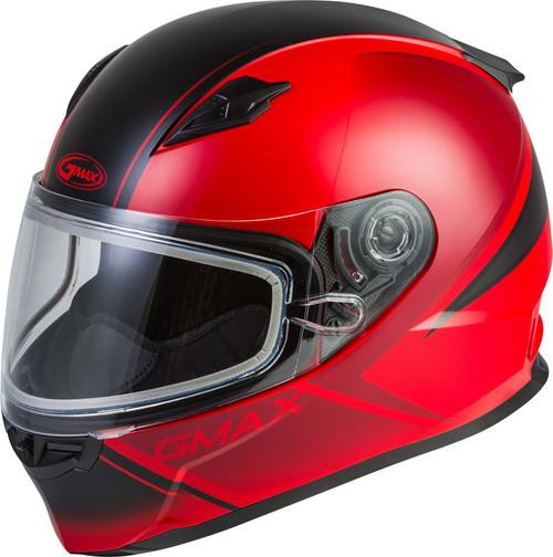 Gmax FF-49S Full-Face Hail Snow Helmet Matte Red