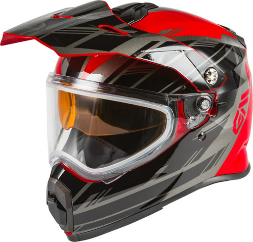 Gmax AT-21S Adventure Epic Snow Helmet Red Silver