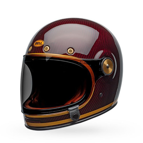 Bell Bullitt Carbon Cruiser Helmet Transcend Gloss Candy Red/Gold