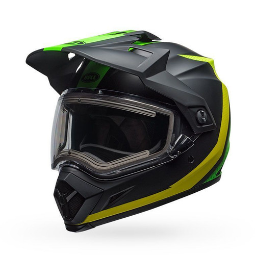 Bell MX-9 Adv Snow Electric Helmet Switchback Matte Green Black