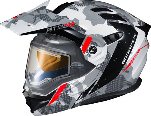 Scorpion EXO-AT950 Outrigger Helmet w/Electric Shield Grey White
