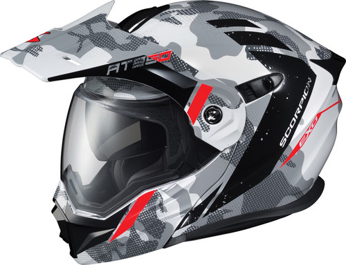Scorpion EXO-AT950 Outrigger Helmet Grey White