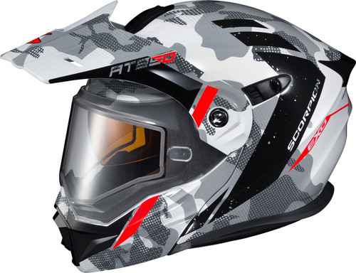 Scorpion EXO-AT950 Snow Outrigger Helmet White Grey