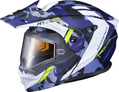 Scorpion EXO-AT950 Snow Outrigger Helmet Blue