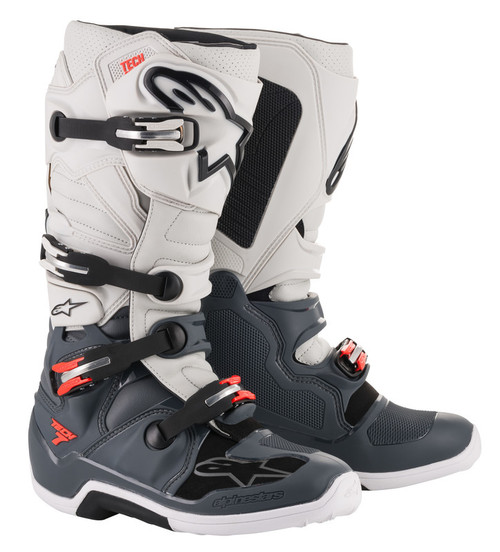 Alpinestars Tech 7 DARKGRY/LGHTGRY/RED Boots