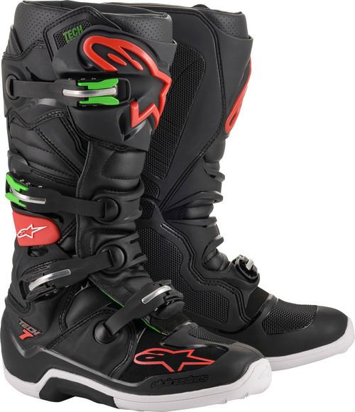 Alpinestars Tech 7 BLACK/RED/GREEN Boots