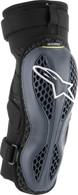 Alpinestars Sequence Knee Protectors Anthracite/Yellow 2X