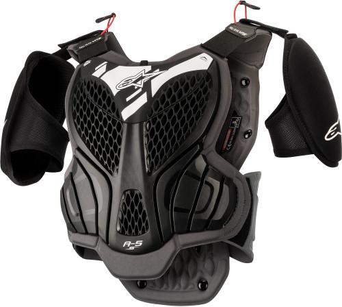 Alpinestars Youth A-5 S Body Armor Black/Cool Grey Ys/Ym