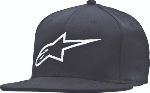 Alpinestars Ageless Flat Bill Hat Black/White Lg/Xl