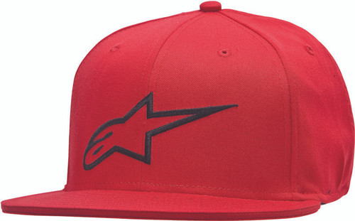 Alpinestars Ageless Flat Bill Hat Red/Black Lg/Xl