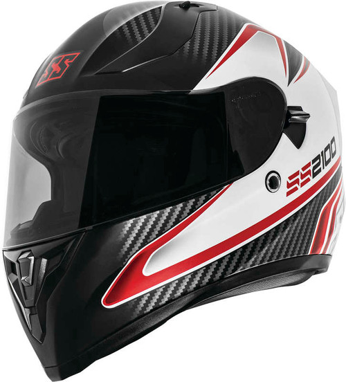 Speed and Strength SS2100 Circuit Helmet Black White Red