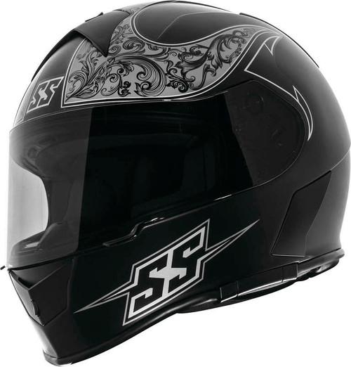 Speed and Strength SS900 Scrolls Helmet Black Grey