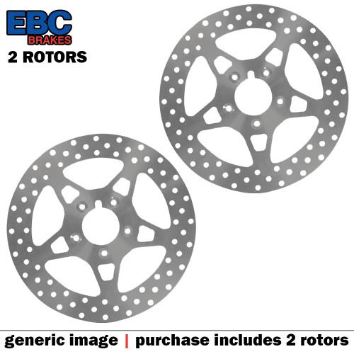 EBC VEE Disc Rotors Front VR3091RED (2 Rotors - Bundle)