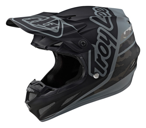 Troy Lee Designs Se4 Composite Silhouette Black Camo Helmet